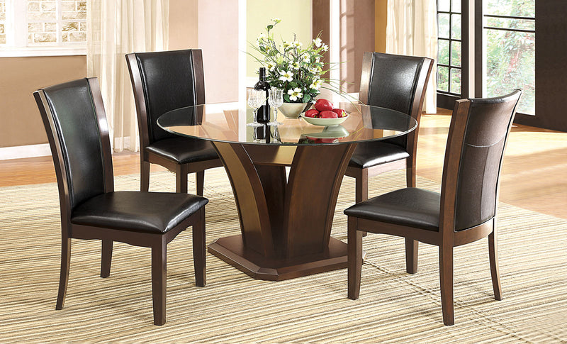 Brown Cherry 5 Pc. Round Dining Table Set image
