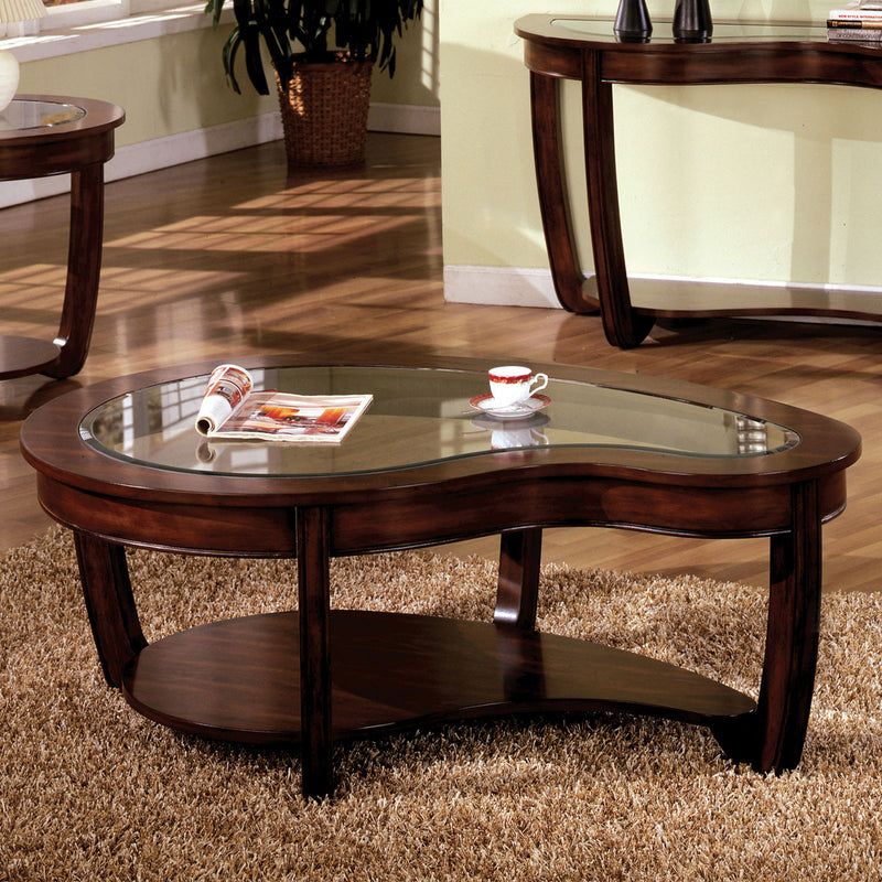 Crystal Falls Dark Cherry Coffee Table image