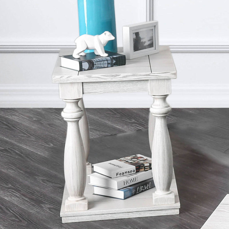 Arlington Antique White End Table image