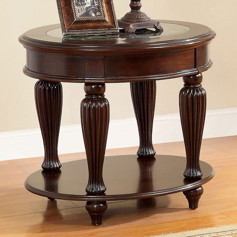 Centinel Dark Cherry End Table image