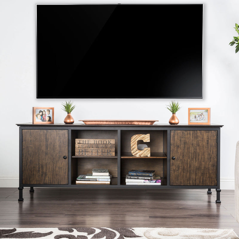 "Broadland Medium Weathered Oak 72"" TV Stand image"