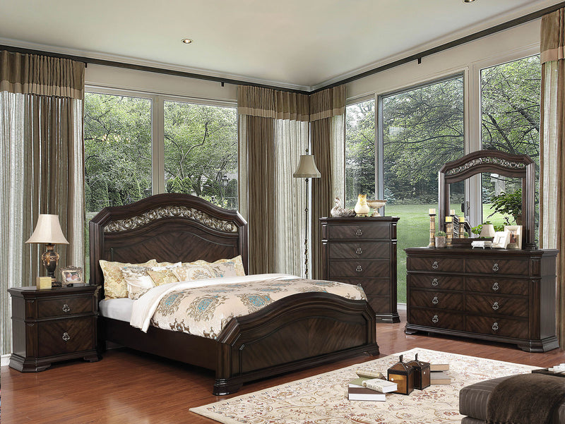 Calliope Espresso 4 Pc. Queen Bedroom Set image