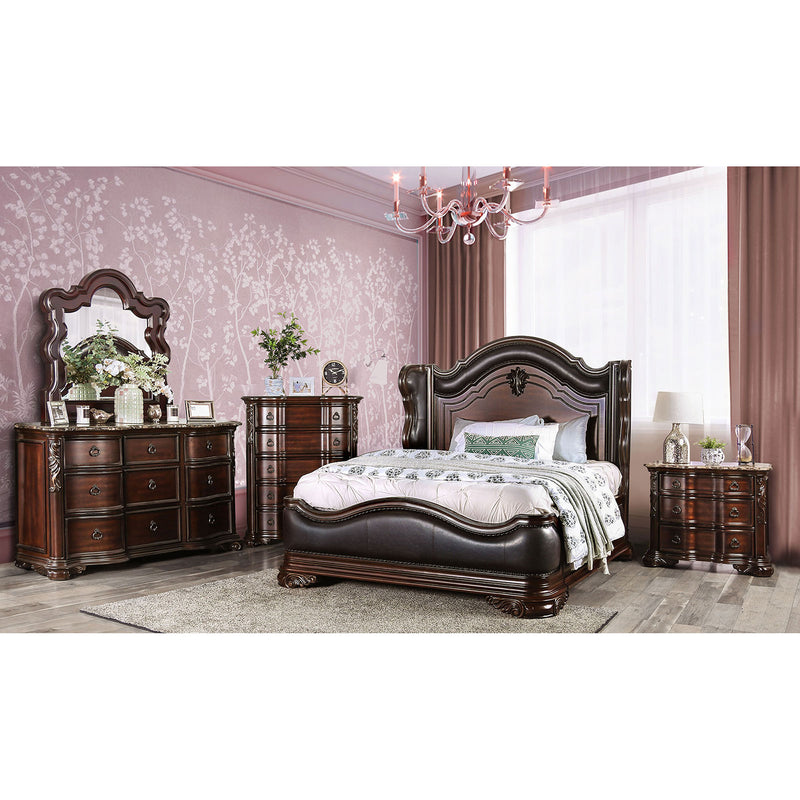 Arcturus Brown Cherry 5 Pc. Queen Bedroom Set w/ 2NS image