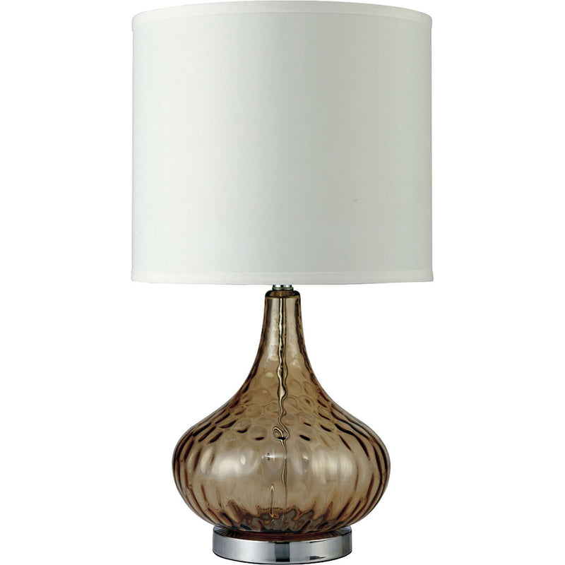 "Donna Amber 15""H Glass Amber Table Lamp image"