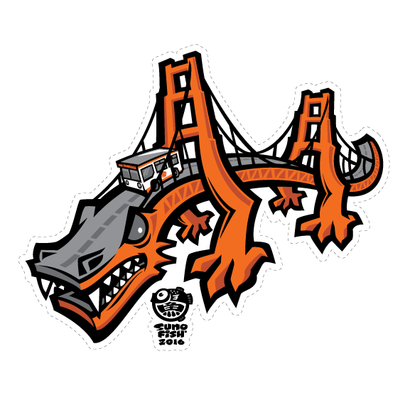 Golden Gate Dragon Decal