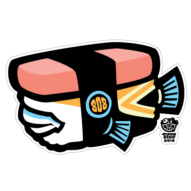 Humu Musubi Decal