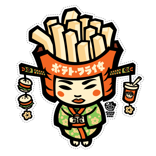 Kokeshi French Fries Decal
