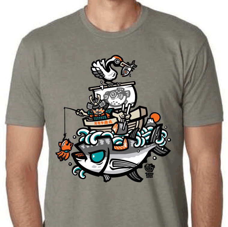 maguro fisherman fishing tshirt