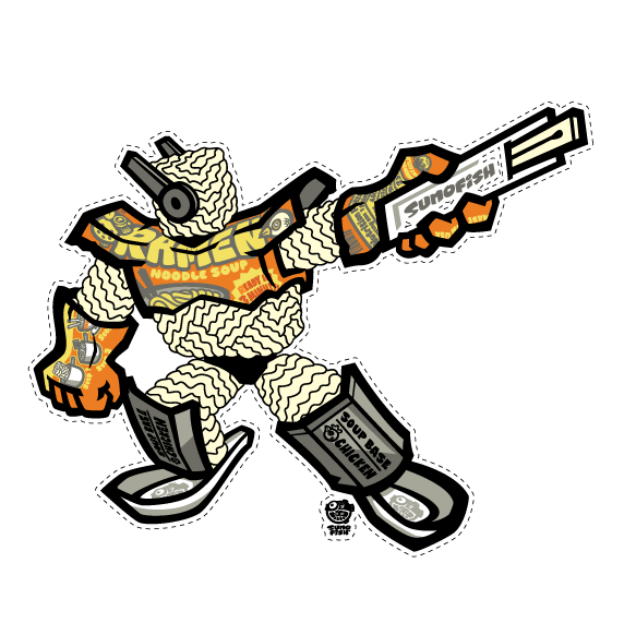Ramen Warrior 2019 Decal