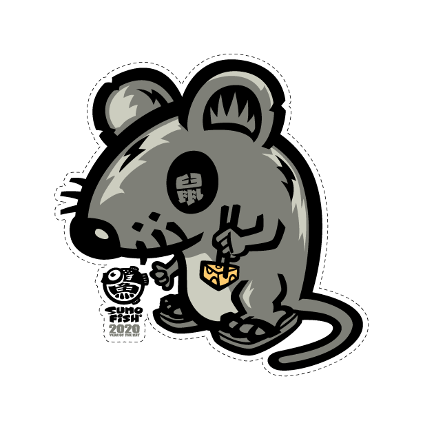 Shaka Rat Decal
