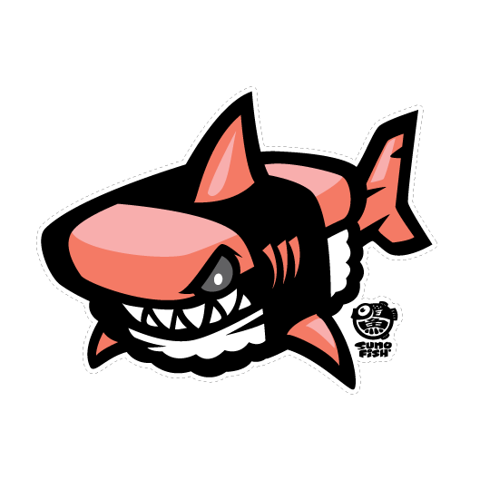 Shark Musubi Decal