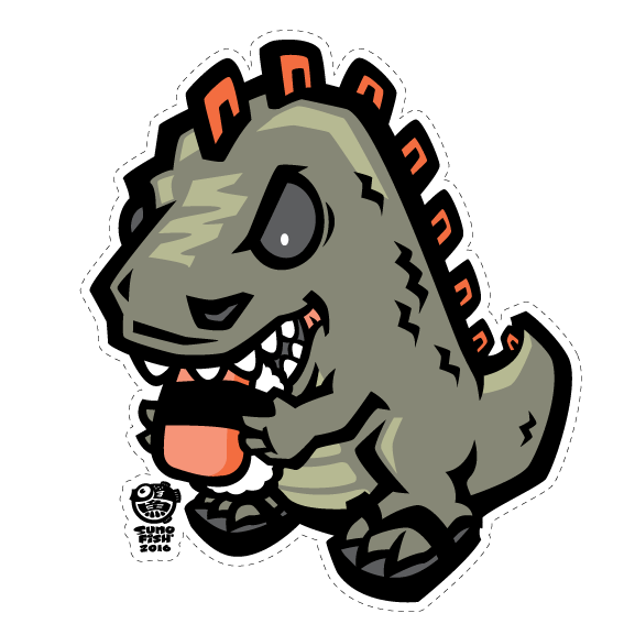 Spamzilla Decal