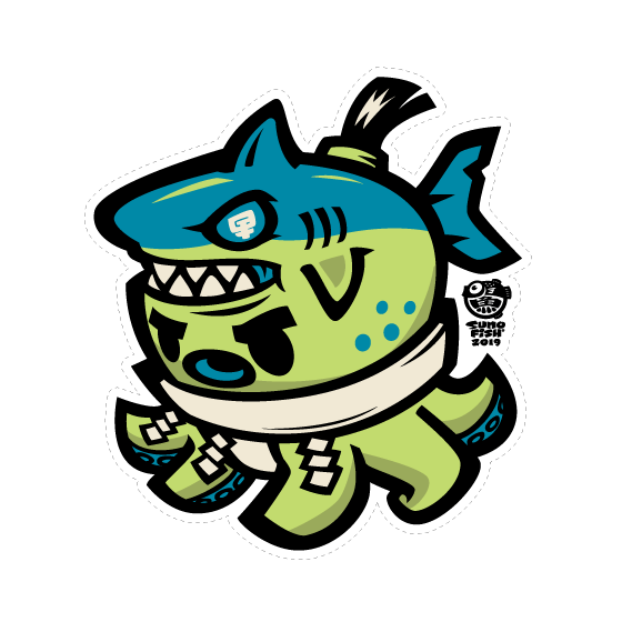Tako Sumo Shark Decal (only in MINI size)