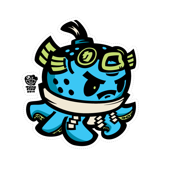 Tako Sumo Fugu Decal (only on MINI size)