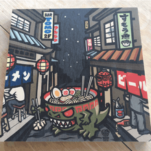 Load image into Gallery viewer, sumofishdesign 'Yokocho' Wood Print product_description Wood Print.