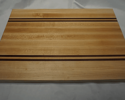 "Edge Grain Cutting Board Purpleheart, & Maple - 16"" x 11"" x 1"" - JNL StreetStyle"