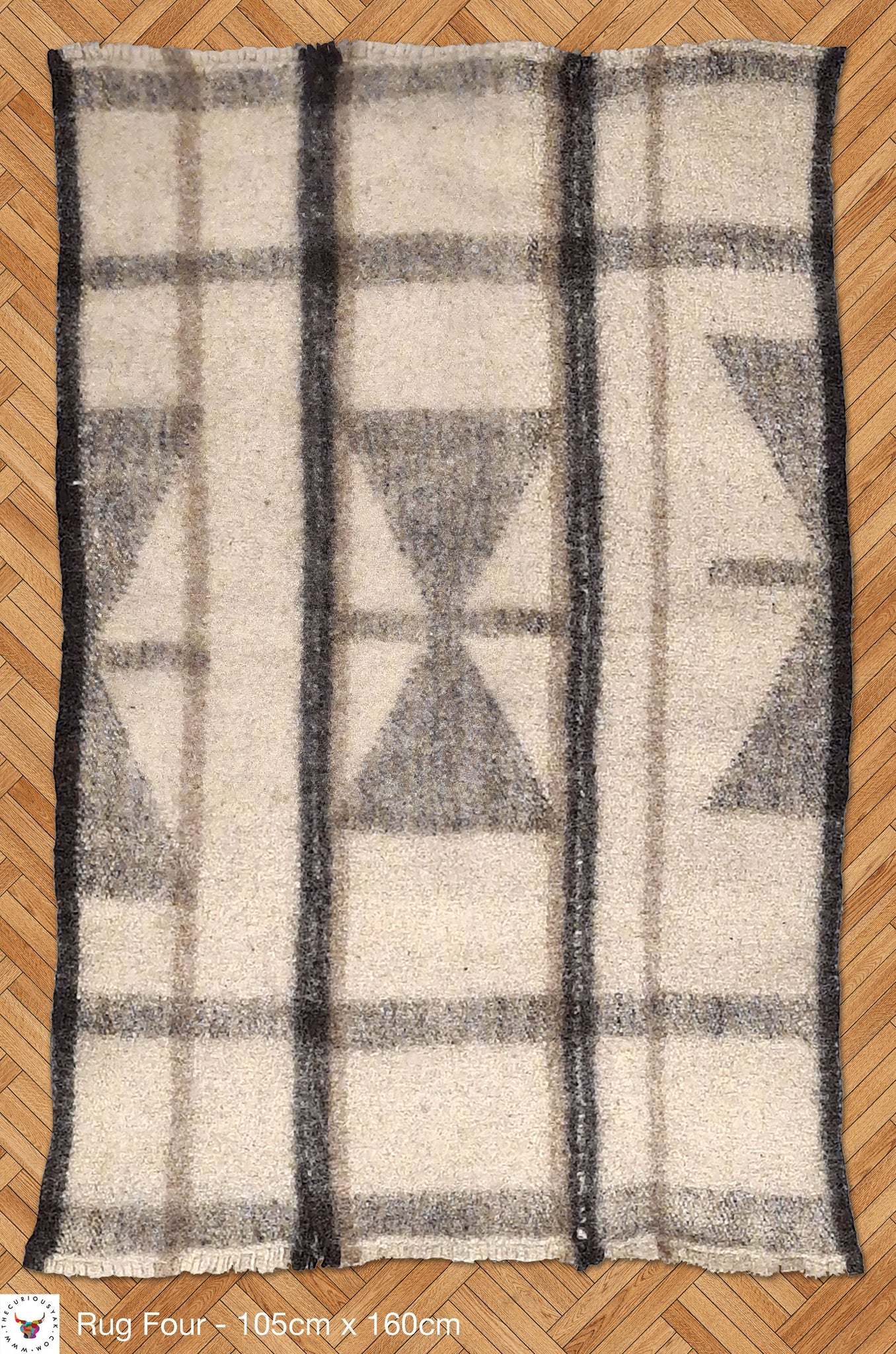 Curious Yak - Diamond Pure Wool Rug