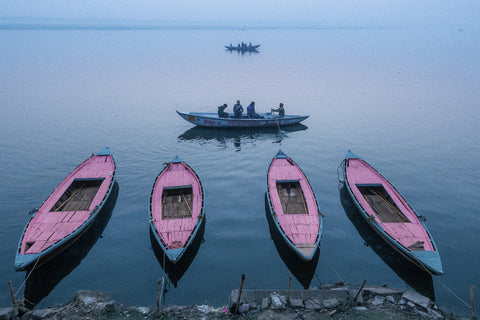 Vipin Singh 'Boats in Geometry' Print
