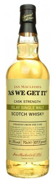 As We Get It - Islay Malt Whisky 61.3%, 70cl