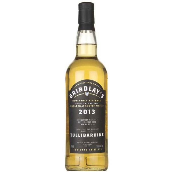 Grindlays Tullibardine 5yr Distilled May 2013 Bottled May 2018, 70cl