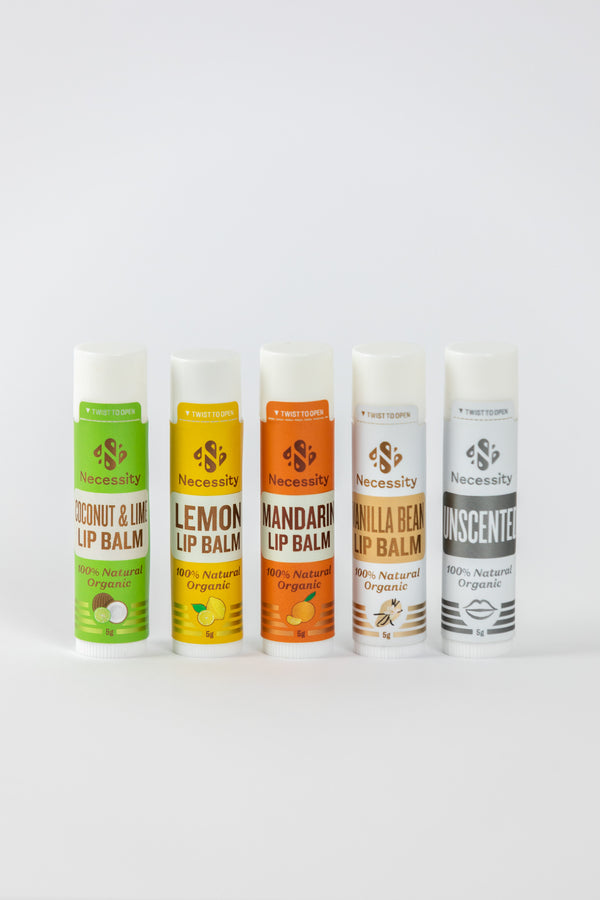 5 Beautiful Organic Lip Balm Pack