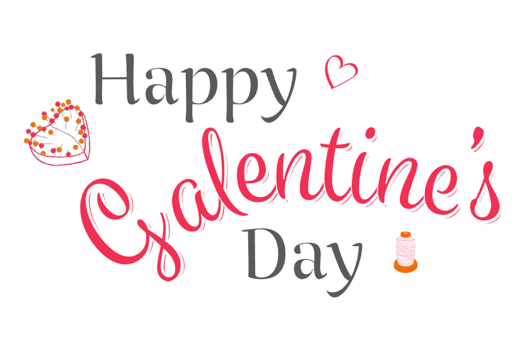 """Picture in red and grey that reads """"happy galentine's day"""""""