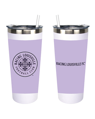 Racing Louisville FC Stainless Steel Straw Tumbler