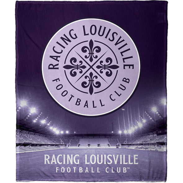 Racing Louisville FC Stadium Lights Silk Touch Blanket