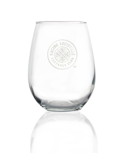 Racing Louisville FC Stemless Wine Glass