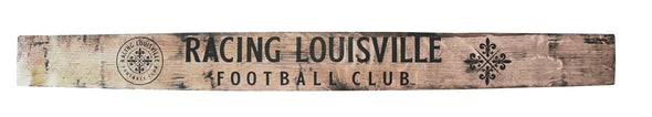 Racing Louisville FC Wordmark Barrel Stave