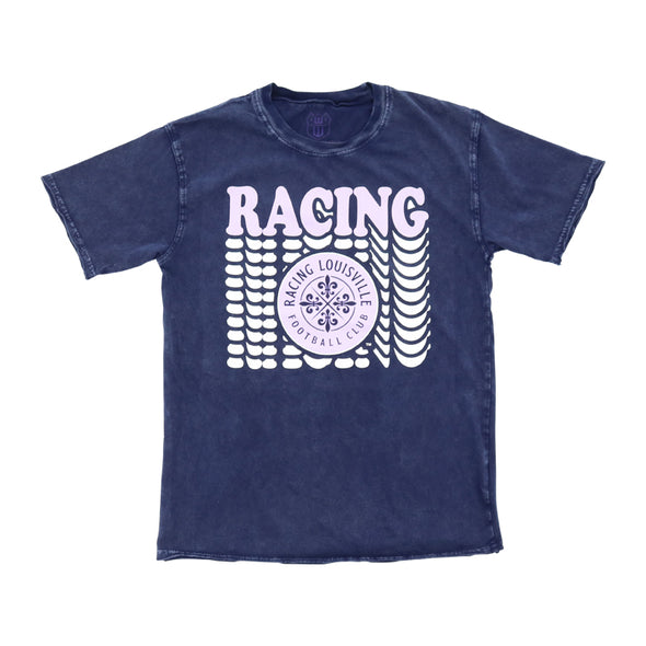 Racing Faded Wash Vertical Repeat T-Shirt