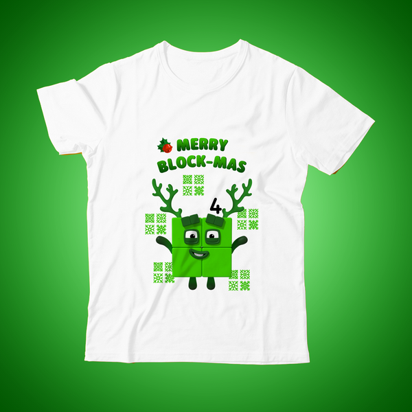 Christmas Numberblock Four, limited edition T