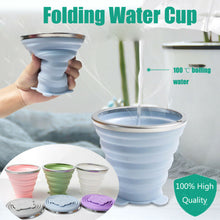 Load image into Gallery viewer, Silicone Retractable Folding Water Cup Travel Camping Outdoor Collapsible Cups Hot Sale