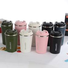 Load image into Gallery viewer, 380ml Stainless Steel Coffee Thermos Mug Portable Car Vacuum Flasks Travel Thermo Cup Water Bottle Thermocup