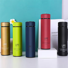 Load image into Gallery viewer, Stainless Steel Thermos Cups Insulated Tumbler Thermocup With Strainer Vacuum Flask Coffee Mugs Travel Bottle Mug 350/400/500ML