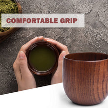 Load image into Gallery viewer, Japanese Style Tea Cup Natural Wood Mug Reusable Cup for Tea Coffee Milk Wine Heat Insulated Water Cup