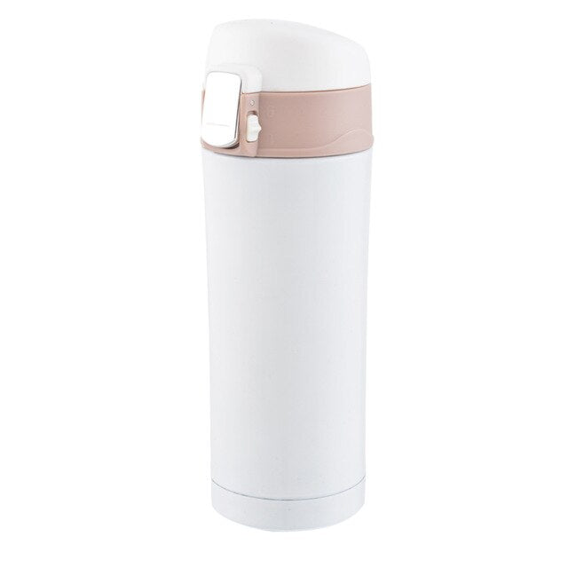 350/500ml Portable Thermos Stainless Steel Double Wall Thermal Bottle Travel Mug Vacuum Cup School Home Tea Coffee Drink Cup