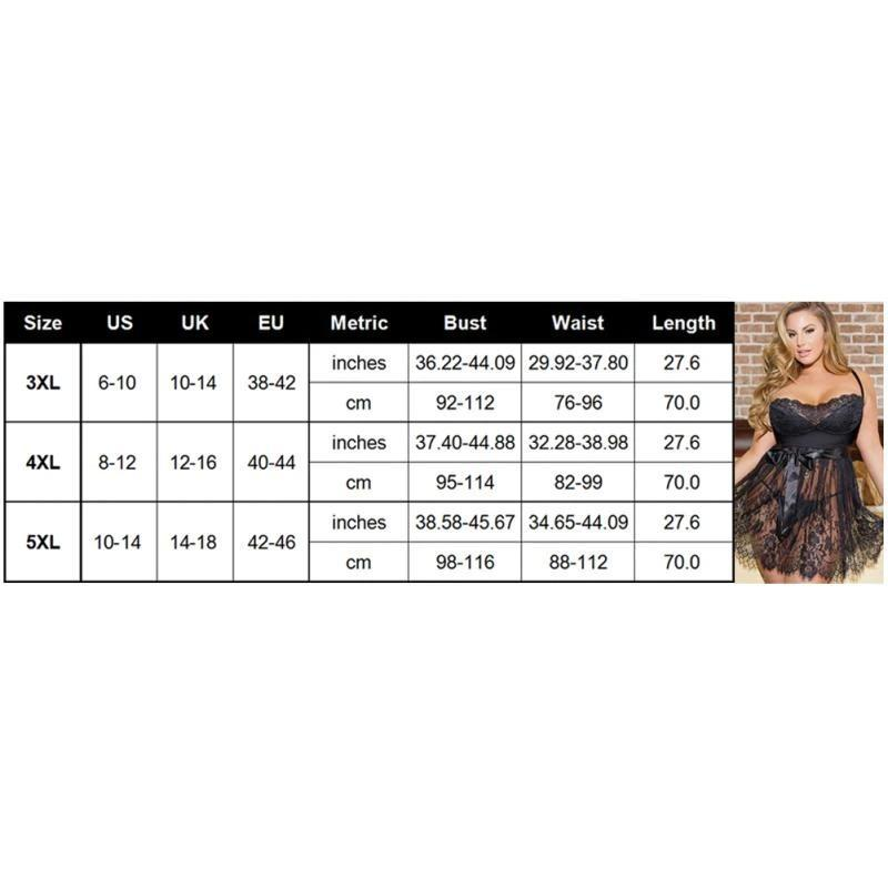 Plus Size S-5XL Women Sexy Lingerie Erotic Lace Flower Apparel Nightwear Sexy Costumes