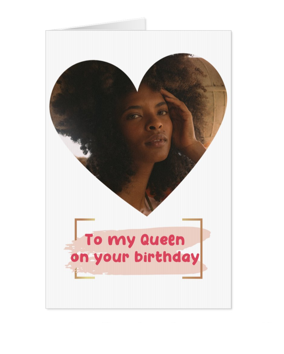 Birthday Queen Personalised Card