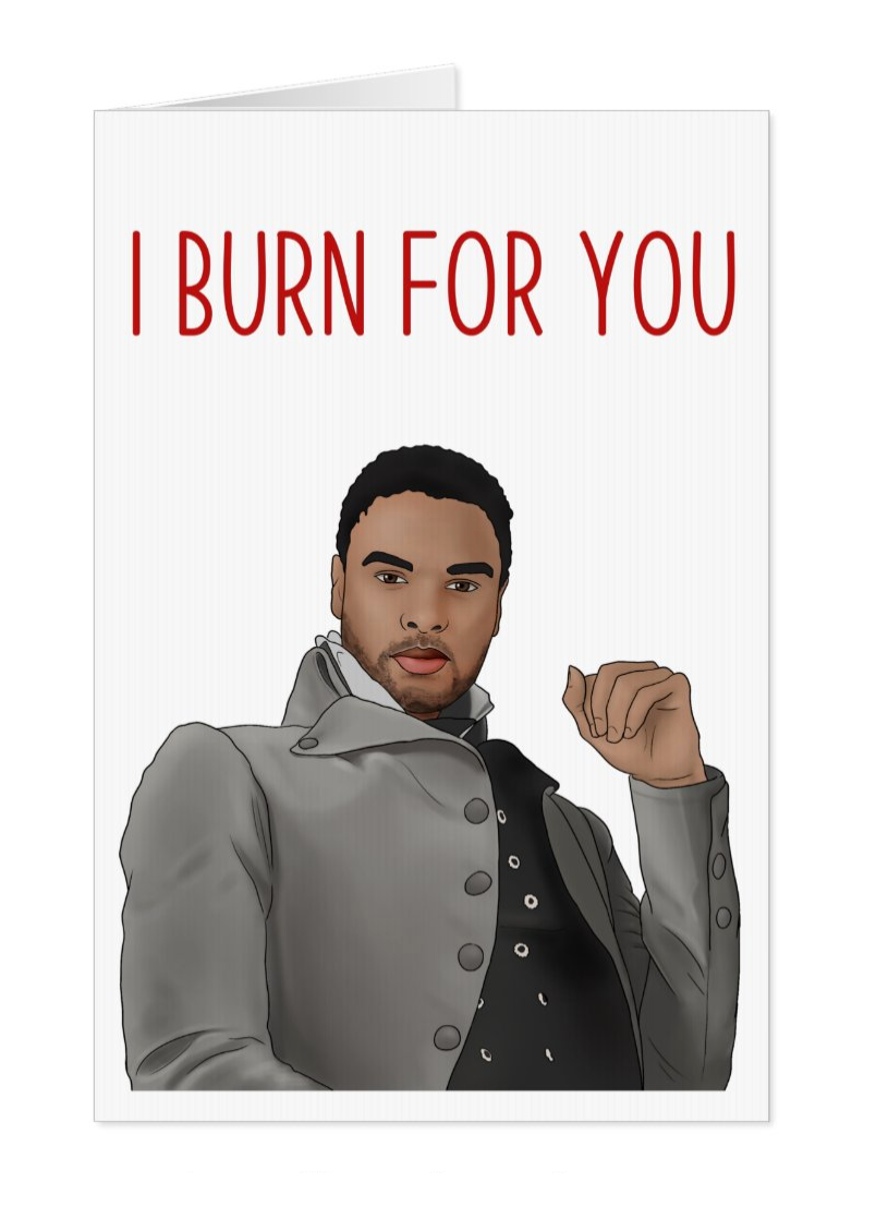 Duke of Hastings I Burn For You, Bridgerton Netflix Card