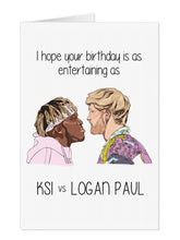 Load image into Gallery viewer, KSI VS Logan Birthday Card