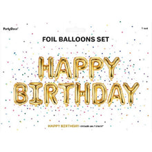 Load image into Gallery viewer, Happy Birthday Air-fill Gold balloon