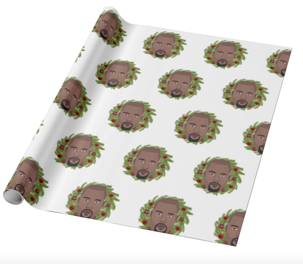 Kanye West Christmas Wrapping Paper | Gift Wrapper