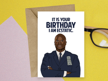 Load image into Gallery viewer, Captain Raymond Holt, Brooklyn Nine-Nine Birthday Card