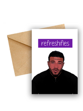 "Load image into Gallery viewer, Tommy Fury ""Refreshifies"" Love Island Card"