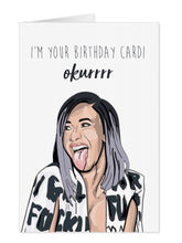 Load image into Gallery viewer, Cardi B Birthday Card