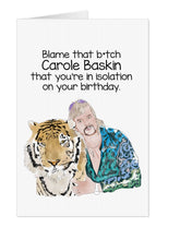 Load image into Gallery viewer, Joe Exotic Carole Baskin Birthday Card