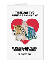 Load image into Gallery viewer, Joe Exotic Carole Baskin I Love You Card