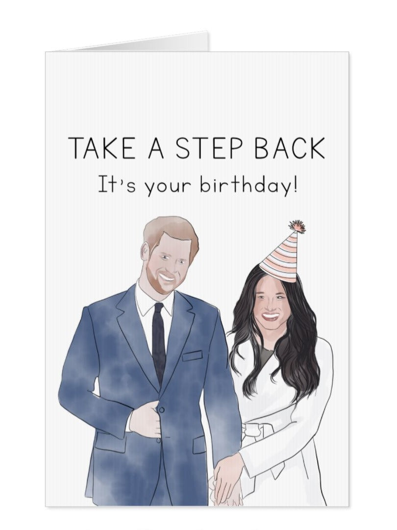 Meghan and Harry Birthday Card