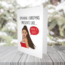 Load image into Gallery viewer, Ariana Grande, Grande Christmas, Thank U Next Christmas Card
